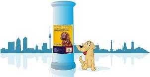Plakathund, Aufreißplakat, Litfaßsäulenwerbung, Postear