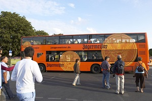 Bus-Werbung, Ganzgestaltung, Doppeldecker, Berlin, Außenwerbung