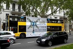 Doppeldecker-Bus, Berlin-Board, Buswerbung (Bus-Außenwerbung)