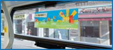 Straßenbahn, Tram, Seitenscheiben (doppelseitig), Innenwerbung, Berlin