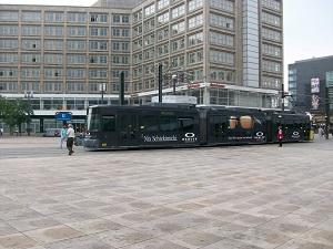 Straßenbahn, Tram, Außenwerbung, Ganzgestaltung, Berlin