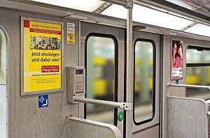 U-Bahn Innenwerbung, Seitenwandflächen, Berlin